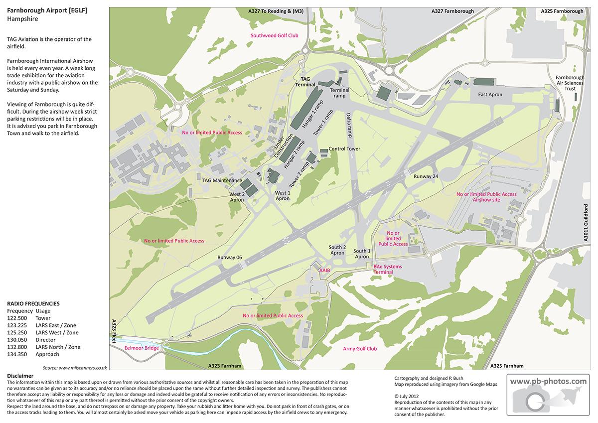 Farnborough Airshow Map Farnborough | pb photos.com